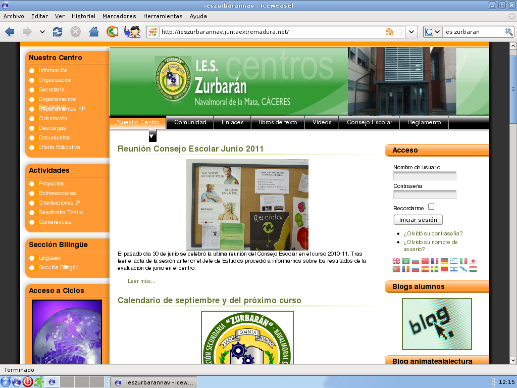 en web los blogs